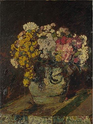 The High Quality Polyster Canvas Of Oil Painting 'Adolphe Monticelli - A Vase Of Wild Flowers,probably 1870-80' ,size: 12x16 Inch / 30x40 Cm ,this High Resolution Art Decorative Prints On Canvas Is Fit For Bedroom Artwork And Home Gallery Art And Gifts (Vase Decor Wildflower Beach)