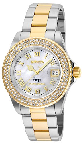 Women's 'Angel' Quartz Stainless Steel Watch, Color:Two Tone (Model: ) - Invicta 24616