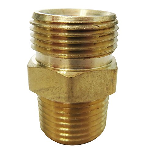 Legines Brass DOT Air Brake Hose End Fitting, Straight Thread Adapter to Pipe, 3/8