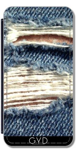 Leder Flip Case Tasche Hülle für Apple Iphone 7 Plus / 8 Plus - Jeans In Blau Stil by Digital-Art