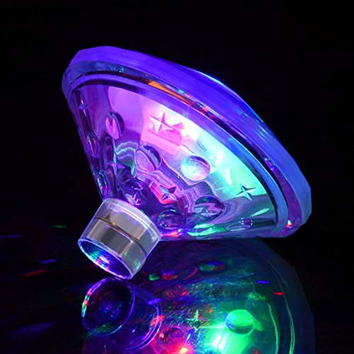 BeFirst Swimming Pool Lights Floating Underwater LED Pond Lights for Hot Tub, Baby Bathtub, Fountain, Disco Pool Party or Pond Decorations - 7 Modes, Waterproof, Battery Operated