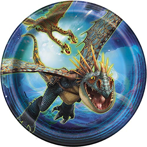 How To Train Your Dragon 3 Birthday Decorations And Tableware Plates Napkins Cups Table Cover Banner Premium Plastic Cutlery Serves 16 by FAKKOS Design (Image #3)