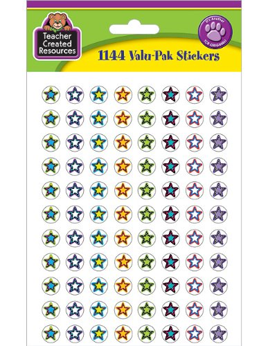 Teacher Created Resources Fancy Stars II Mini Stickers Valu-Pak (5364)