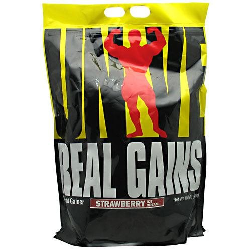 Real Gains Strawberry - Real Gains, Strawberry Ice Cream, 10.6 lbs, From Universal