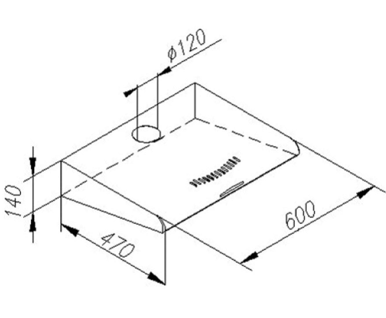 Amica UH 17109-3 S - Campana extractora, color negro: Amazon.es: Grandes electrodomésticos