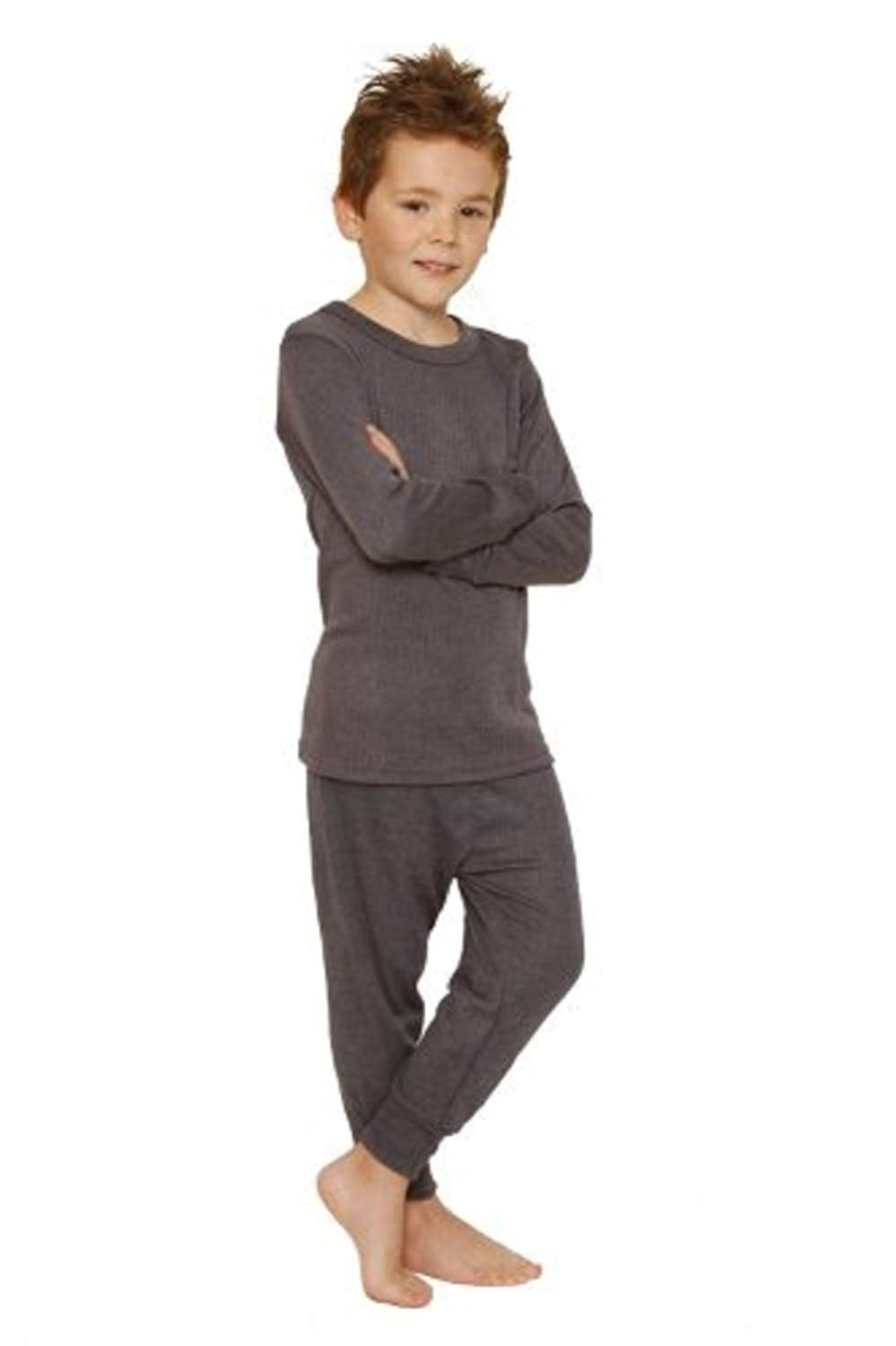 Octave 3 Pack Boys Thermal Underwear Long Sleeve T-Shirt//Vest//Top