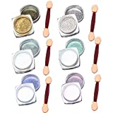 Elisona-6 Pcs Nail Art Mirror Glitter Shinning Nail Chrome Pigment Powder Nail Art Tools with Sponge Stick