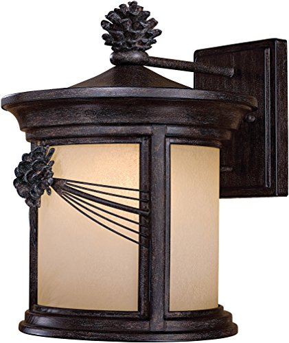 Minka Lavery Rustic Outdoor Wall Light 9153-A357-PL Abbey Lane Exterior Wall Lantern Fluorescent, Iron