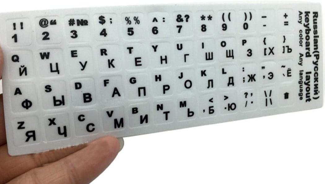 LEANO Russian Keyboard Cover Stickers Laptop Computer Keyboard Cover Film Keyboard Skins