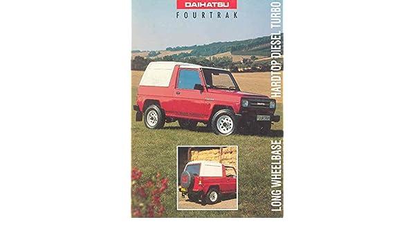 Amazon.com: 1997 Daihatsu Fourtrak Turbo Diesel SUV Sales Brochure: Entertainment Collectibles