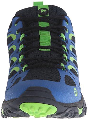 Merrell Moab Edge, Zapatillas de Senderismo Hombre,, Azul (Navy Blue), 43.5