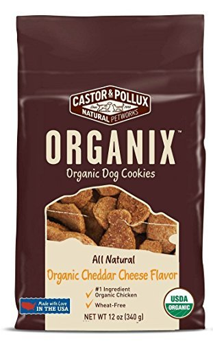 Castor & Pollux Organix Dog Cookies, 12 Oz x 3 Pks, 1 Chicken, 1 Cheese & 1 Peanut Butter Flavor