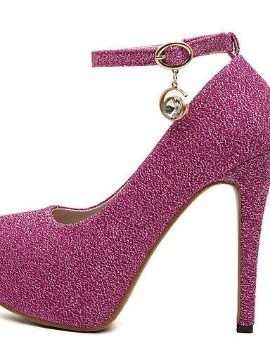 GGX/Damen Schuhe Kunstleder Sommer Heels/Plattform/offene Zehen/Ankle Strap Kleid Stiletto Ferse Schnalle red-us8.5 / eu39 / uk6.5 / cn40