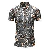 CieKen Men Tee Shirt,Men's Summer Business Leisure Short-Sleeved Plus Size Printing Shirt,Men's Fashion Hoodies & Sweatshirts,Gray,6XL