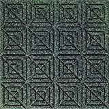Andersen 220 Waterhog Classic Tile Polypropylene Fiber Entrance Indoor/Outdoor Floor Tile, Geometric Pattern, SBR Rubber Backing, 18'' Length x 18'' Width, 1/4'' Thick, Charcoal (Case of 12)