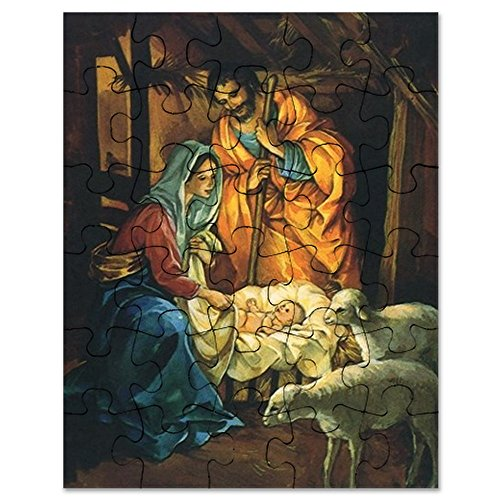 CafePress Vintage Christmas Nativity Jigsaw Puzzle, 30 pcs.