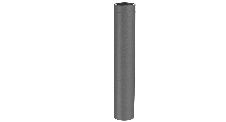 Ofenrohr Längenelement doppelwandig, mit 1000mm Länge, Ø 130mm Durchmesser; gussgrau lackiert
