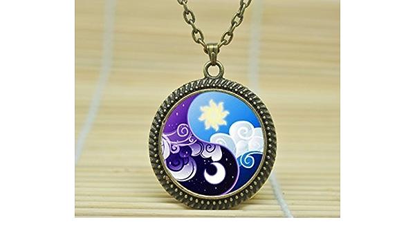 Polymer Clay Cabochon My Little Pony Necklace Bronies Brony MLP Applejack Pendant Cosplay Jewellery Anime Jewelry Locket