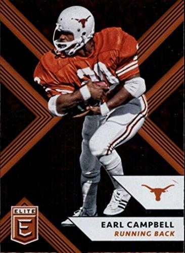 - 2018 Panini Elite Draft Picks #38 Earl Campbell Texas Longhorns Football Card
