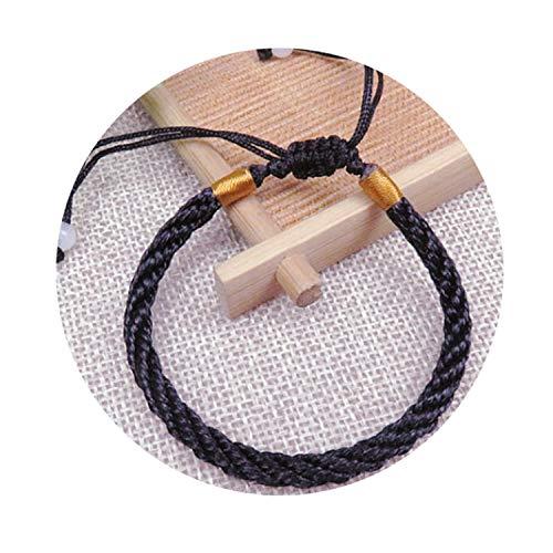 Hot 1PC Handmade Knit Lucky Chinese Bracelet Adjustable Unisex Red Bracelet Jewelry Gifts ()