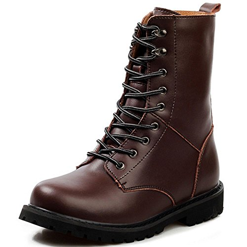 Shoes TAOFFEN Up Combat Brown Desert Men's Lace Boots n4q4RYvFH