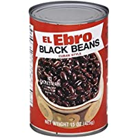 El Ebro Black beans Cuban Style 15oz ( Pk of 3 )