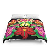 Society6 Mexican Exotic Flowers Comforters Full: 79'' x 79''