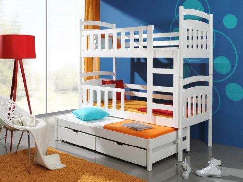 Etagenbett Stockbett Hochbett Doppelbett Viki 90x200 Kinderbett wohnideebilder