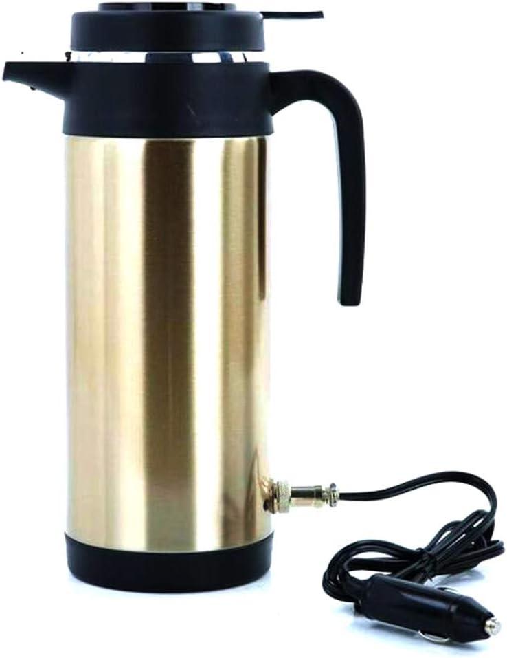 WERSDF Taza eléctrica del Coche 12V / 24V 1000ml Taza de Viaje eléctrica en el Coche Termoses Taza de calefacción Taza de té Café Encendedor de Cigarrillos Alimentado ...