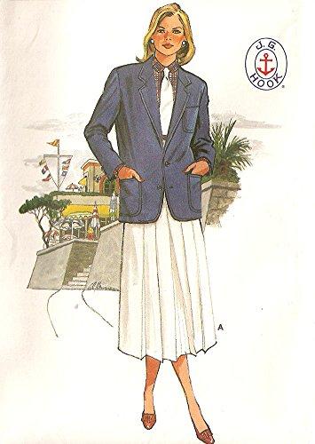 Butterick vintage 1980s sewing pattern 3101 J.G. Hook preppy outfit - Size - 1980s Preppy