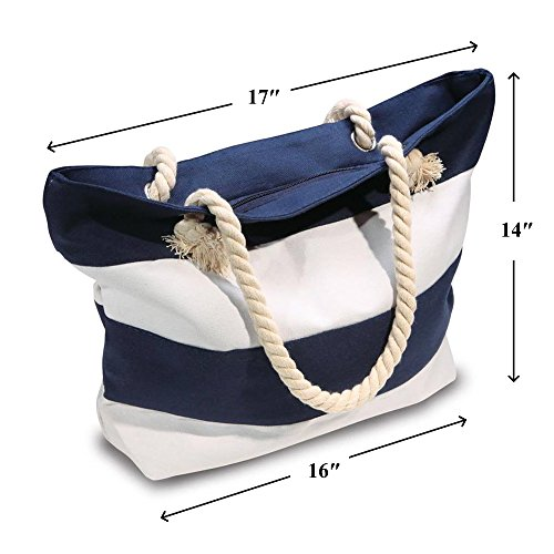 2de1075c6b Beach Bag With Inner Zipper Pocket from Moskus Gear - Tote Bag with Rope  Handles
