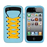 iShoes Silicone Case For iPhone 4/4S - Original - BLUE