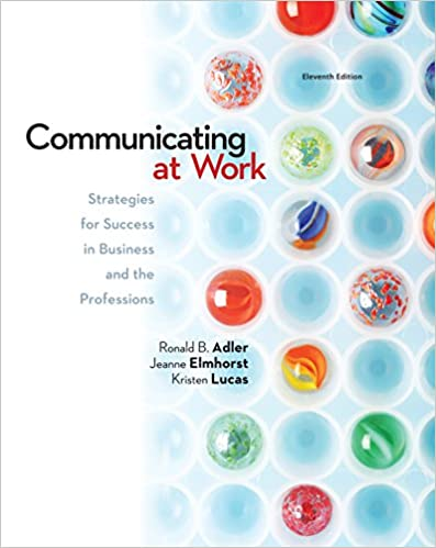 Amazon communicating at work strategies for success in communicating at work strategies for success in business and the professions 11th edition kindle edition fandeluxe Images