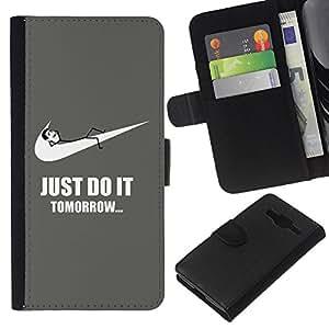 JackGot ( Divertente farlo domani Sport ) Samsung Galaxy Core Prime la tarjeta de Crédito Slots PU Funda de cuero Monedero caso cubierta de piel
