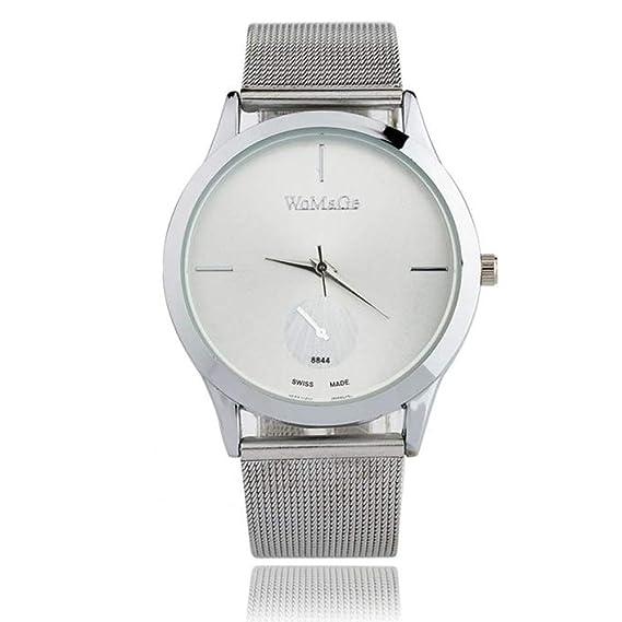 weant Moda Reloj para Mujer Unisex Original Reloj Reloj de Pulsera Digital Acero Reloj Lujo Sliver Rosa Oro Elegante D: Amazon.es: Relojes