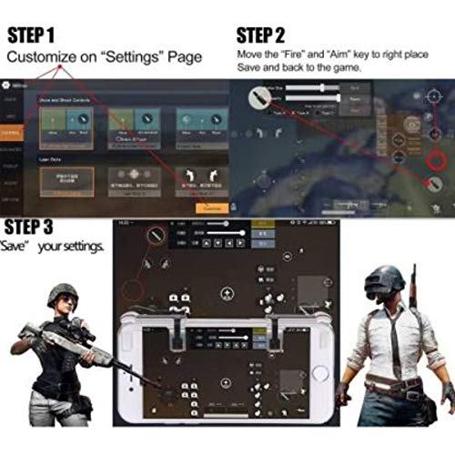 Gadgets Appliances PUBG Sensitive Shoot/Aim Buttons L1 R1 Trigger Mobile Game Controller for Andriod & iOS Gaming Accessory Kit (Black, for Mac OS)
