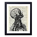 Human Anatomy Upcycled Wall Art Vintage Dictionary Art Print 8x10 inches / 20.32 x 25.4 cm Unframed