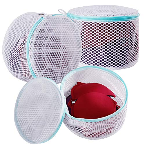 multipurpose Plusmart Bra Laundry Bag, Mesh Laundry Bag for Delicates, Bra Washing Bag for D to E Cup,3 Pack