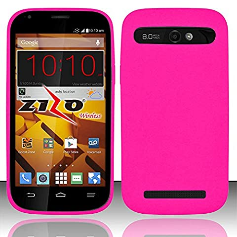 Mystcase (TM) For Boost Mobile ZTE Warp Sync N9515 Rubber Silicone Soft Gel Skin Case Phone Cover + Screen Protector (Hot (Zte Warp Sync Rubber Phone Case)