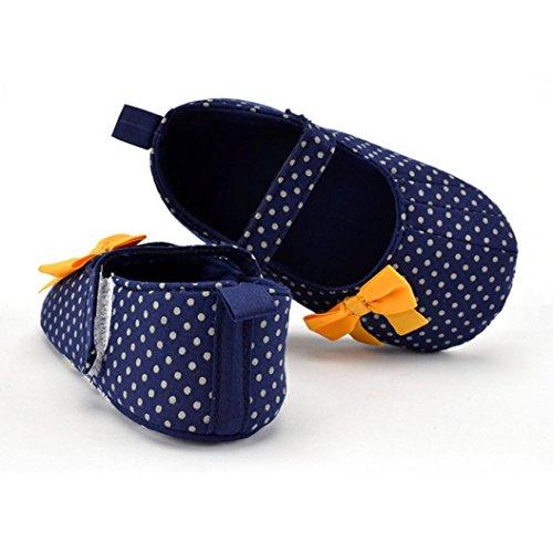 Jamicy® Baby Mädchen Canvas Schuhe niedlich Bowknot Anti-Rutsch weiche Sohle Sneaker