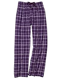 Boxercraft Flannel Pants Elastic Waist with Tie Cord and Pockets, (Medium - Purple Sparkle)