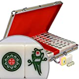 Professional Chinese Mahjong with Aluminum Case and Large Tiles