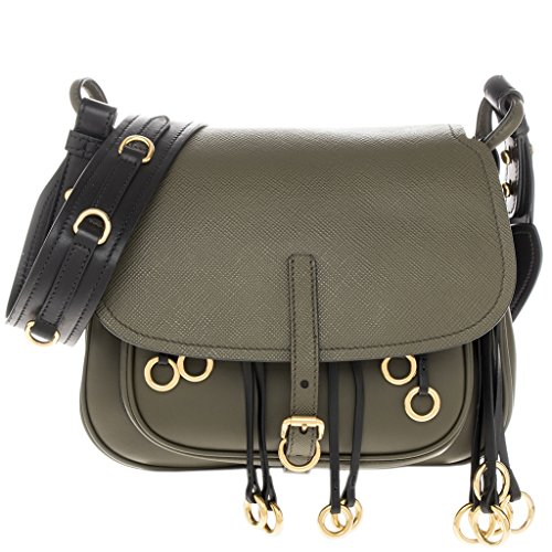 Prada-Womens-Corsaire-Calf-Shoulder-Bag-Green