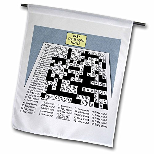 Rich Diesslins Funny Out to Lunch Cartoons - Baby Crossword Puzzle - 12 x 18 inch Garden Flag (Sound Crossword Puzzle)