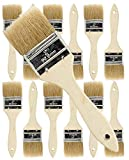 2'' Chip Paint Brushes for Paint, Stains,Varnishes,Glues,Gesso (12 EA 2'' Chip Brush)