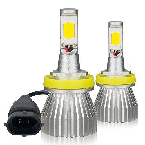 Zdatt 3000LM High Power 3000K H8 H9 H11 LED Fog Light Headlight Bulbs with Strobe Flashing Function for Car Truck Fog Lamp Replacement, Yellow-2 Pack