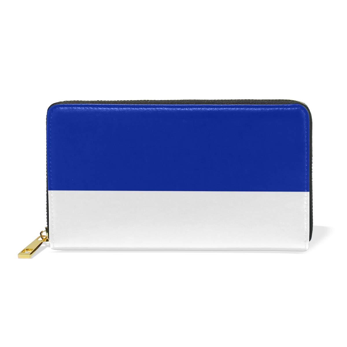 Slim Minimalist Leather Wallets For Women Men France Flag