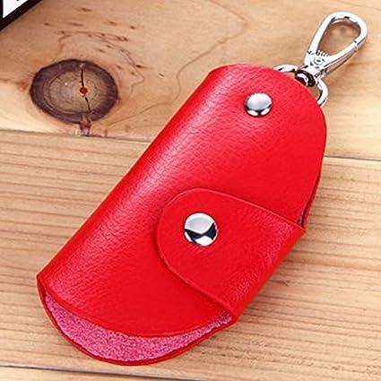 36c90cb8fa7c Amazon.com: Mens Women Leather Key Wallet Case Holder Purse Pouch ...