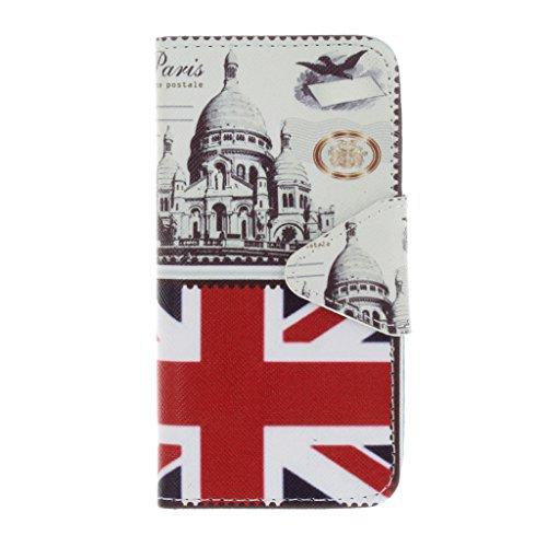 """Crisant Case Cover For Apple iPhone 6 Plus / 6S Plus 5.5"""" (5,5''),Architecture britannique conception portefeuille magnétique supporter PU cuir de flip protection housse coque étui pour Apple iPhone 6"""