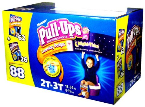 Huggies Pull-Ups Training Pants, Boys, 2T-3T, 88-Count, Health Care Stuffs